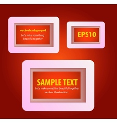 Display text box design with rounded corners vector image