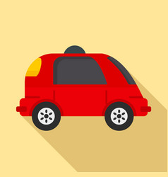 Driverless car icon flat style vector
