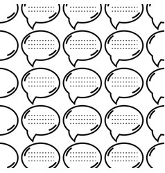 Figure chat bubble communication message vector
