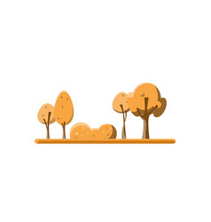 Flat green trees set vector