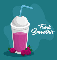 fruit smoothie icon vector image