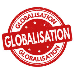 Globalisation sign or stamp vector