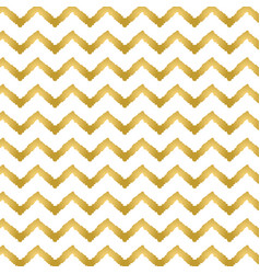 golden chevron pattern seamless background vector image