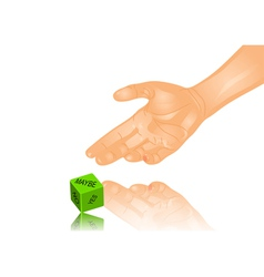 Hand and dice vector