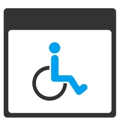 Handicapped Calendar Page Toolbar Icon vector