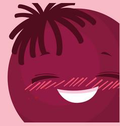 happy emoticon kawaii character vector image
