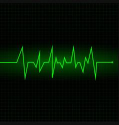 Heart beat cardiogram - green vector