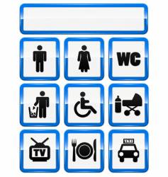 icons set of service signs vector image