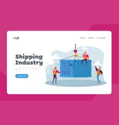 import export maritime logistics landing page vector image