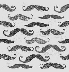 ink hand drawn retro seamless pattern with vector image