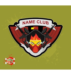 Logo paintball club mortal paintball guns and mask vector