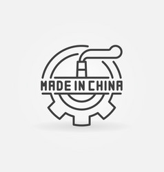Made in china industrial icon vector