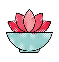 natural flower spa icon vector image