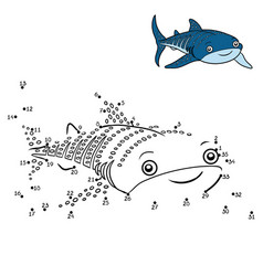 numbers game whale shark vector image