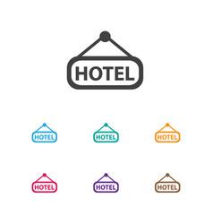 Of trip symbol on inn icon vector