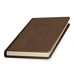 Old brown book vector