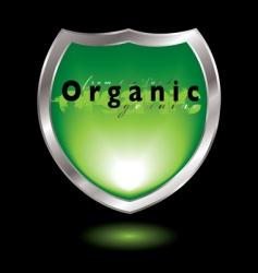 organic shield vector image