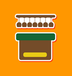 paper sticker on stylish background pub bar vector image