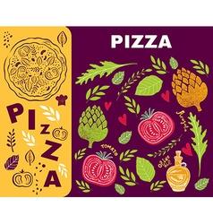 Pizza design menu template vector