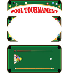 pool tournament vector image