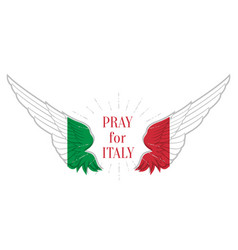 Pray for italy coronavirus outbreak in italy vector