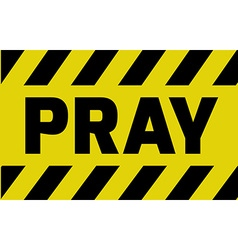 Pray sign vector