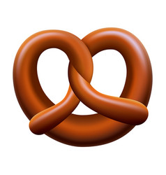 pretzel mockup realistic style vector image