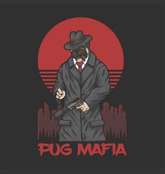 Pug mafia vector