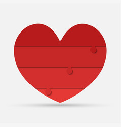 red pieces puzzle of romantic medical heart vector image