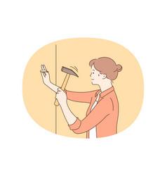 repairing renovation housework concept vector image