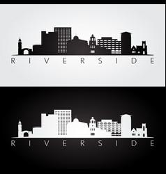 Riverside usa skyline and landmarks silhouette vector