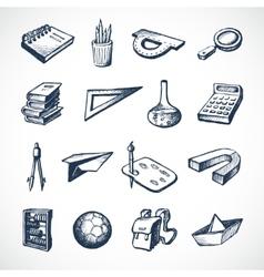 School Sketch Icons vector image vector image