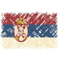 serbian grunge flag vector image