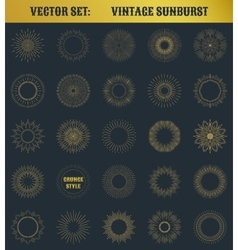 Set of vintage sunburst vector image