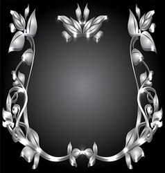 silver monogram vector image