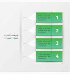 Timeline report template vector
