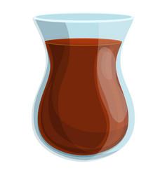 Turkish coffee glass icon cartoon style vector