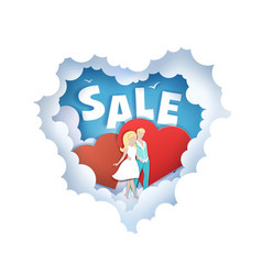 valentines day sale poster banner vector image