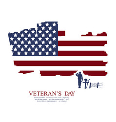 veterans day flag design over a white background vector image