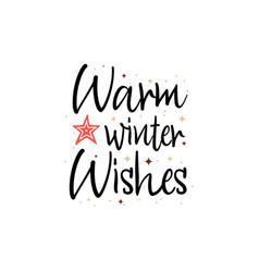 warm winter wishes holiday banner - new year vector image
