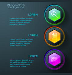 web abstract infographics vector image