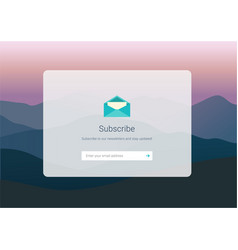Web subscribe ui interface design vector