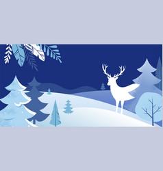 winter landscape background christmas banner vector image