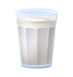 Yogurt glass icon cartoon style vector