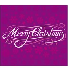 christmas card - merry christmas vector image vector image