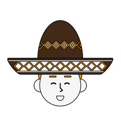 mariachi mexican hat vector image