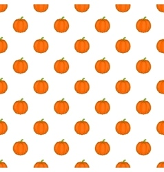 Pumpkin pattern cartoon style vector image