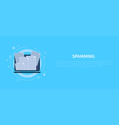 Spamming in computer mail vector