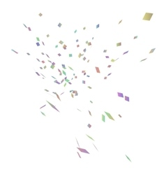 Abstract background with many falling confetti vector image vector image