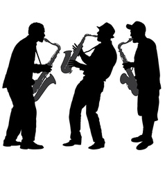 Saxophone Player Silhouette vector image